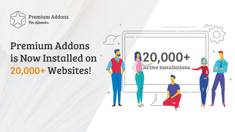 Premium Addons is Now Installed on 20,000+ Websites