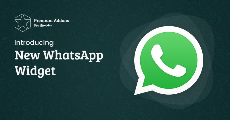 Elementor WhatsApp Widget Is Here